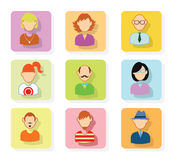 Simple avatar icons set, vector. Stock Image