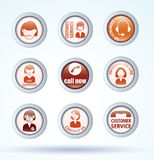 Simple avatar icons set, vector. Royalty Free Stock Image