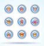 Simple avatar icons set, vector. Royalty Free Stock Photos