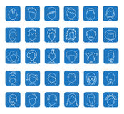 Simple avatar icons set, vector. Royalty Free Stock Photography