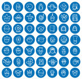 Simple avatar icons set, vector. Royalty Free Stock Photo