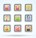 Simple avatar icons set, vector illustration Stock Photography