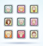 Simple avatar icons set, vector illustration Stock Photos