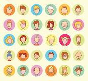 Simple avatar icons set, vector illustration Royalty Free Stock Images