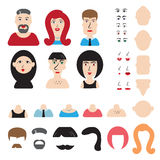 Simple Avatar Or Character Constructor Stock Photography