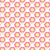 Simple baby pattern. Cute seamless wallpaper. Doodle little flower pastel background. Royalty Free Stock Photography