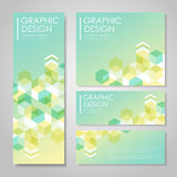 Simple background for banners set with hexagons element Royalty Free Stock Image