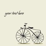 Simple background with a bicycle. With place for your text Stock Photos