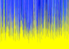 Blue Stripes on Yellow Background Royalty Free Stock Photography