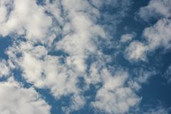 Simple background with clouds on sky stock photo
