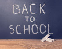 Simple background of education with text back to school is writt Stock Photography