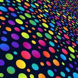 Simple Background of Gradient Colorful Circles on Dark Backdrop. Geometric Colored Concept Royalty Free Illustration
