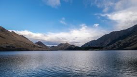 Peaceful background of a lake in New Zealand royalty free stock photo