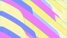 Simple background from minimalistic magical multicolored abstract bright inclined lines of waves of strips of geometric figures wi. Th a blue stroke. Vector Royalty Free Stock Images
