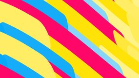 Simple background from minimalistic magical multicolored abstract bright lines of waves of strips of geometric shapes. Vector illu. Stration vector illustration