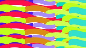 Simple background from minimalistic magical multicolored curved abstract bright lines of waves of strips of geometric figures hori. Zontal in wavy form. Vector vector illustration