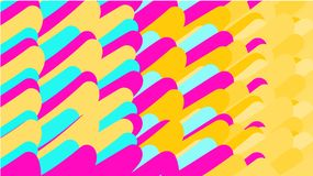 A simple background of minimalistic variegated magical multicolored abstracts of various upright ordered bright ovals, tubes, sphe royalty free illustration
