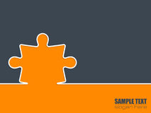 Simple background with puzzle Royalty Free Stock Image