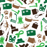 Simple backwoodsman icons seamless pattern eps10 Royalty Free Stock Photography