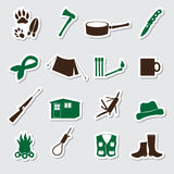 Simple backwoodsman stickers set Stock Images