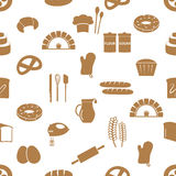 Simple bakery items icons seamless pattern eps10 Royalty Free Stock Photography