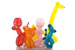 Simple balloon animals on white Royalty Free Stock Photo