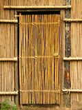 Simple Bamboo Door Royalty Free Stock Images
