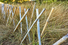 Simple Bamboo fence Royalty Free Stock Photography