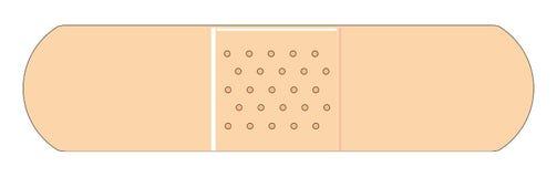 Simple bandage. Straight forward illustration of a common bandage stock illustration