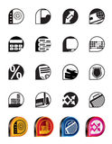 Simple bank, business, finance and office icons. Vector icon set Stock Illustration