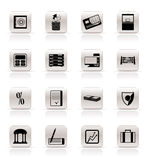 Simple bank, business, finance and office icons Royalty Free Stock Photography