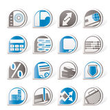 Simple bank, business, finance and office icons. Icon set Royalty Free Stock Images
