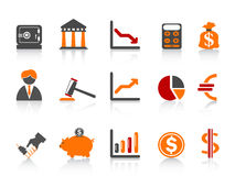Simple bank icons,color series Stock Photography