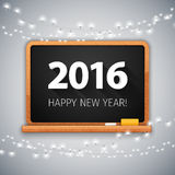 Simple Banner 2016 with Christmas Lights Stock Images