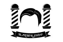 Simple, Barber Shop Sign, d'isolement sur le blanc Photographie stock