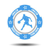Simple basketball team emblem Royalty Free Stock Image
