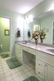 Simple bathroom with double sinks royalty free stock photo