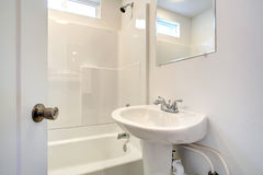 Simple bathroom interior. Stock Photos