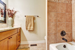 Simple bathroom interior Stock Photo