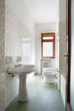 Simple bathroom in normal apartment Royalty Free Stock Photos