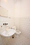 Simple bathroom. Picture of a simple bathroom Stock Photos