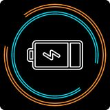 Simple Battery Thin Line Vector Icon stock illustration