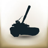 Simple battle tank Royalty Free Stock Photo