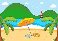 A simple beach scene vector illustration