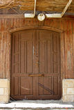 Simple beach wooden cabana door Royalty Free Stock Images