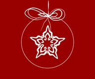 Snowflake in a christmas ball Royalty Free Stock Photo