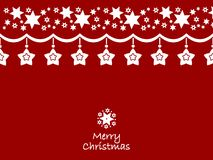Merry Christmas decoration clean design Royalty Free Stock Photos