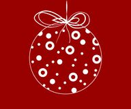 Snowflakes in a xmas ball. Simple, beautiful shapes with festive ornaments. Clean design for Christmas prints Royalty Free Stock Photography