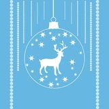Reindeer in a xmas ball Royalty Free Stock Images