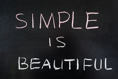 Simple is beautiful Royalty Free Stock Image